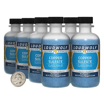 Copper Sulfate 3 Pounds 8 Bottles 99.7 Pure Reagent Grade Dry Powder
