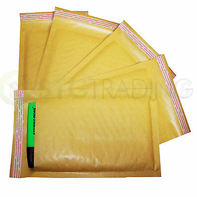 Gold Padded Bubble Envelopes A6 Floppy Disks 115x195mm STG 2 - 200 Envelopes