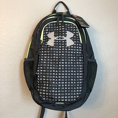 NWT Under Armour Scrimmage Men's Laptop Backpack 2.0 Logo Wire Gray/Lime Green