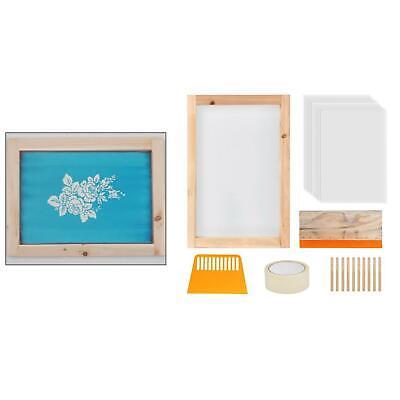 24pcs Screen Printing Starter Kit Wooden Silk Screen Printing Frame Diy T-shirt