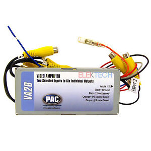 pac va26 amplifier switcher unit splitter 2 rca inputs to 6 rca outputs
