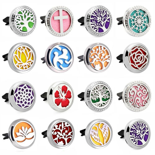 1PC Stainless Steel Essential Oil Diffuser Locket Aroma Car
