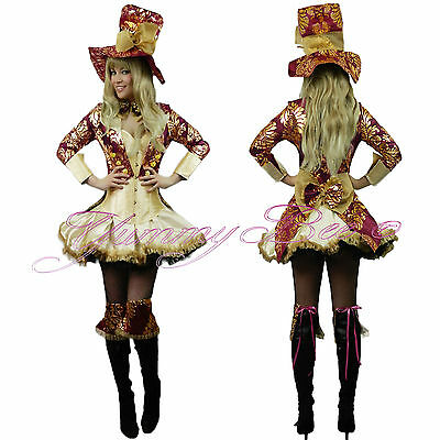 Yummy Bee Mad Hatter Fancy Dress Costume Women Plus Size Alice Wonderland Queen](Plus Size Mad Hatter Costumes)