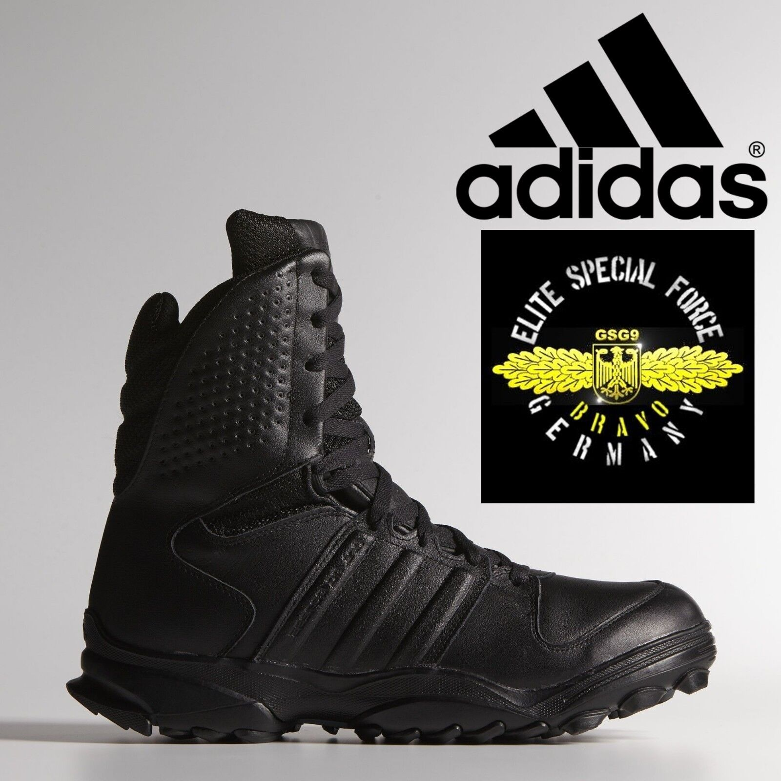 0bbaba7711d adidas GSG 9.2 Combat Boots Military SWAT German Police Shoes Black Leather
