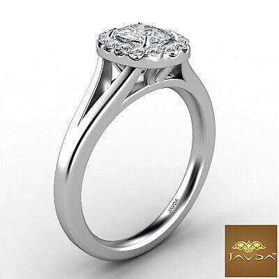 Halo Split Shank French U Pave Cushion Diamond Engagement Ring GIA G VS1 0.7 Ct 2