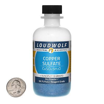 Copper Sulfate 4 Ounce Bottle 99.7 Pure Reagent Grade Dry Powder Usa