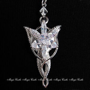 Lord of the Rings LOTR Ring Arwen Evenstar Necklace Pendant Elven Leaf Brooch
