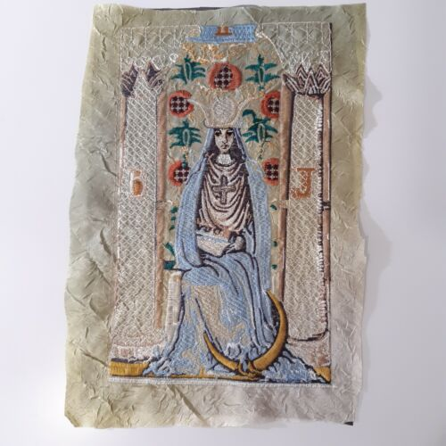 The High Priestess Tarot Card Sew-On Embroidered Patch