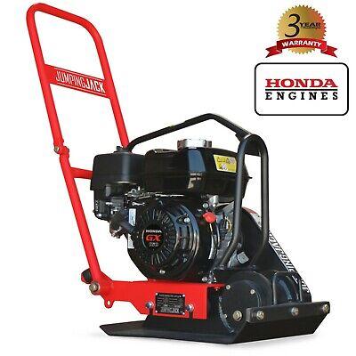 Photo Jumping Jack Plate Compactor 5.5 HP Honda Engine Tamper Dirt Soil Gravel Asphalt