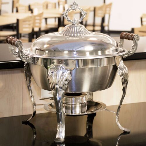 Catering Classic STAINLESS STEEL Chafing Dish 5 QT Half Round Buffet Chafer