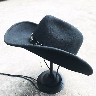 Western Cowboy Shapeable Hat Black/Brown Men's/Woman's Unisex 100% WoolFelt - Cheap Cowboy Hats For Men