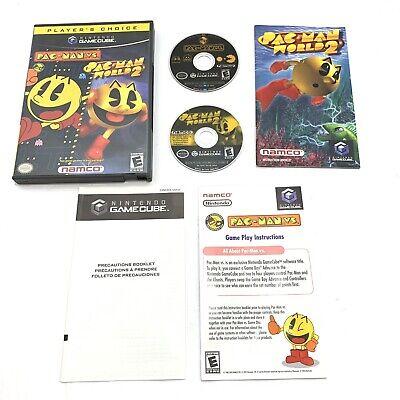 Pac-Man vs. Pac-Man World 2 Nintendo GameCube Clean Tested Box