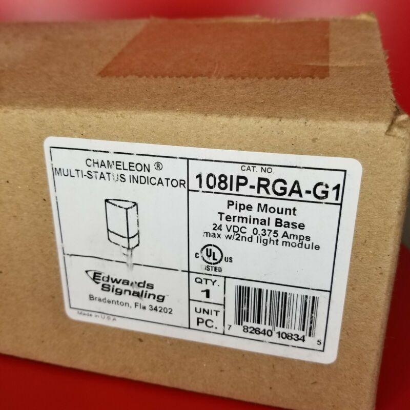 Edwards Signaling 108IP-RGA-G1 PIPE MNT 24VDC 108 SER RGA Multi Status Indicator