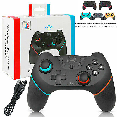 Pro Controller für Nintendo Switch Gamepad Vibration Bluetooth Wireless+Ladekabl