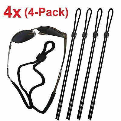 4-Pack Neck Strap Sport Sunglass Eyeglass Read Glasses Cord Lanyard Holder Black Health & Beauty