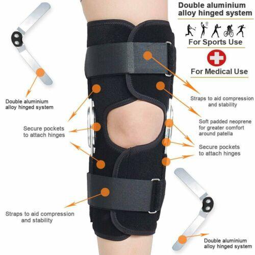 Adjustable Hinged Knee Brace Patella Support Tendonitis Reli