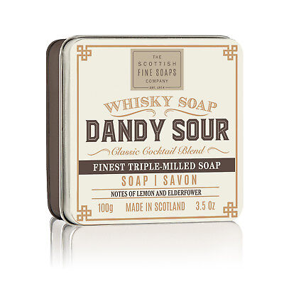 Scottish Fine Soaps Dandy Sour Soap In A Tin 100G 3 5Oz  Imported From Scotland