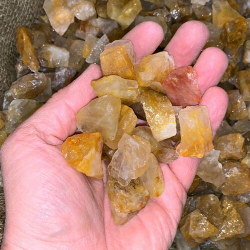 500 Carat Lots of (SMALL) Citrine Rough Plus a FREE Faceted Gemstone!