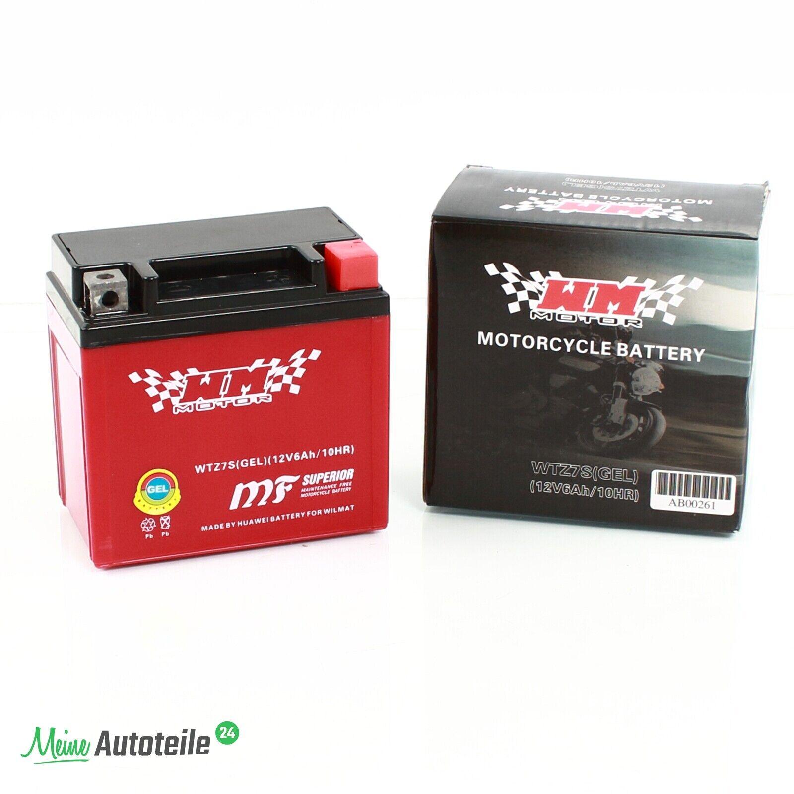 YTZ7S Gel Batterie 12V 6Ah Motorroller Motorrad 12 Volt 6 Ah 12 V Yamaha Honda