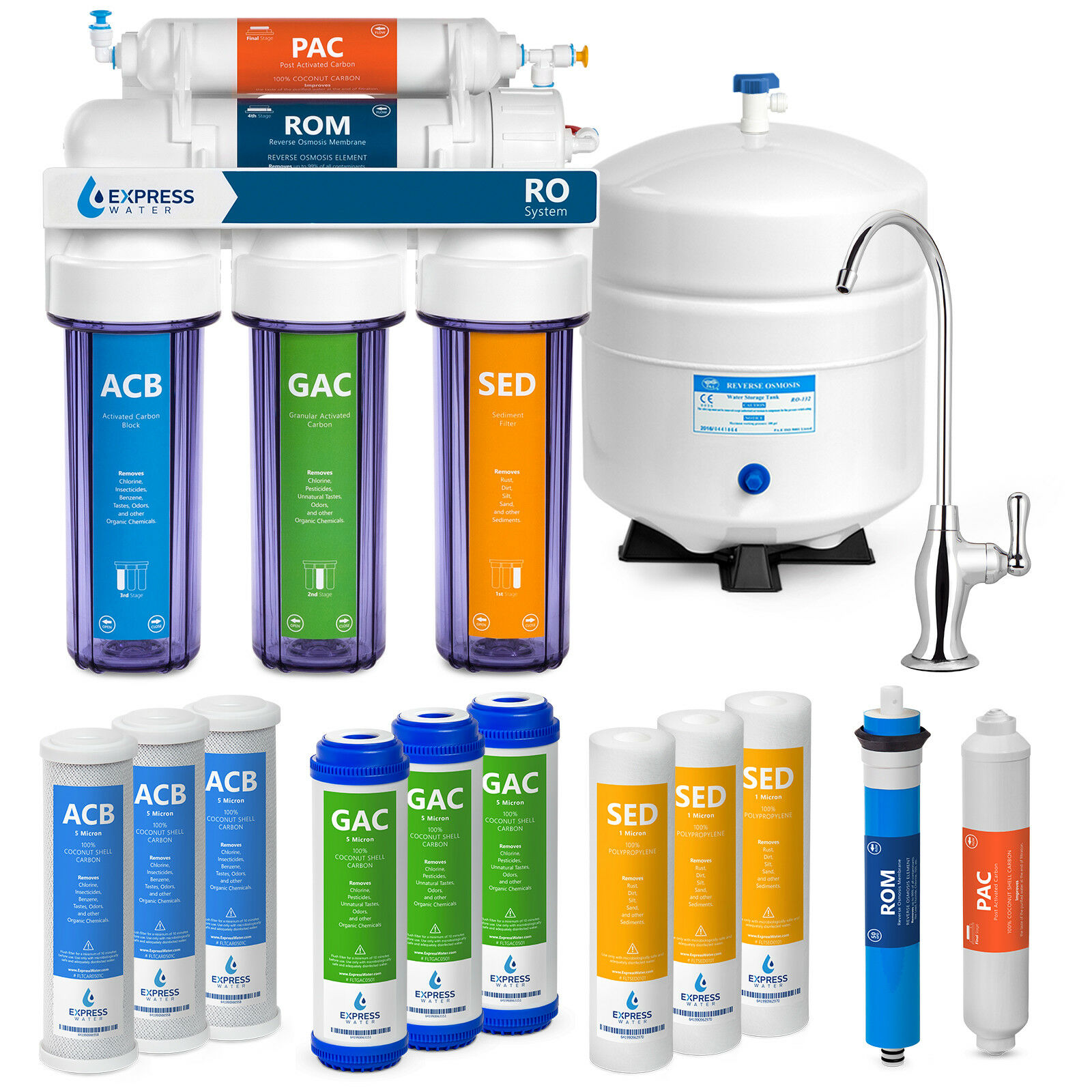 5 Stage Home Drinking Reverse Osmosis System PLUS Extra Full