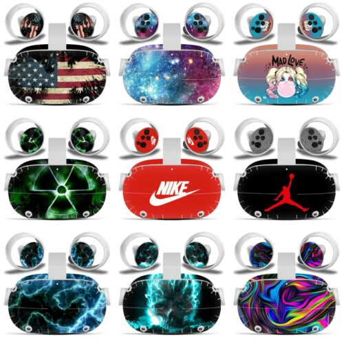 Oculus Quest 2 VR Skin Decal Vinyl Wrap Stickers Cover Full Set -(9 Designs)-L19