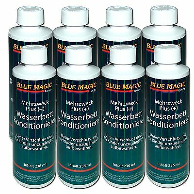 8x Blue Magic Wasserbett Conditioner Konditionierer Wasserbetten Pflege Condi