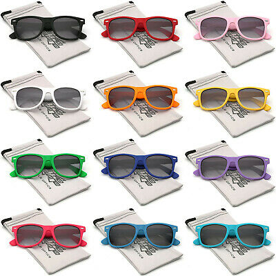 Rubberized Horned Rim Sunglasses Retro Vintage Multi Color Men Women Glasses (Colorful Rims)