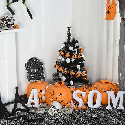 HOMCOM 3ft Artificial Christmas Tree Halloween Decoration Automatic, Black