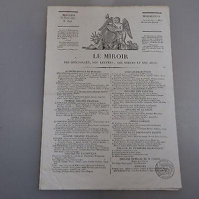 Le Miroir Nr. 825 Ausgabe vom 30. April 1825 (43234)