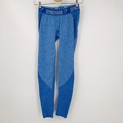 Gymshark Womens Size S Deep Teal Ice Blue Flex Leggings DRY Knit