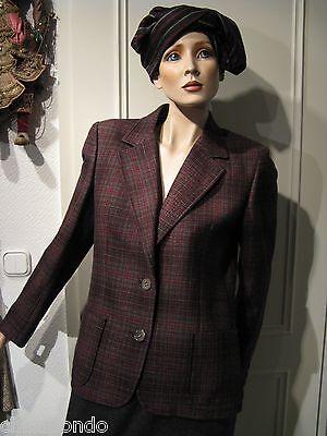 Kostüm Cèline Paris Gr. 38  grau rot 3 Teile Klassiker mit Zukunft First Class