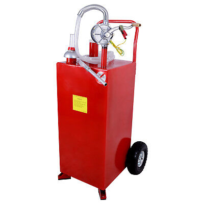 Mecor 30 Gallon Gas Caddy Tank With Pump Hose Fuel Gasoline Fluid Diesel