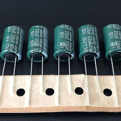50pcs 330uf 50v330uf 10x16 Suncon Sanyo Cz Wide Range Temperature Capacitor