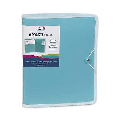 Docit 8 Pocket Folder Multi Pocket Folder Perfect For School Office And
