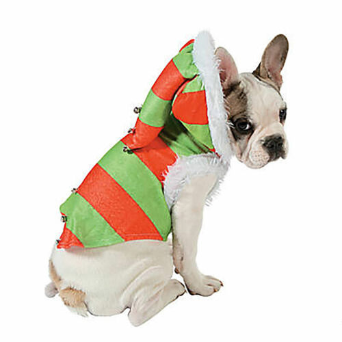 """NWT Christmas Holiday Elf Dog Costume Pet Outfit Size 19"""" X 18"""" Unfastened"""