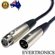 1m Balanced Microphone Cables XLR Male to Female Mic Lead cable Malaga Swan Area Preview