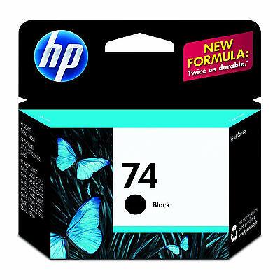 2017 IN BOX Genuine HP 74 Black Ink Cartridge CB335WN DeskJet D4360 D4363 D4368