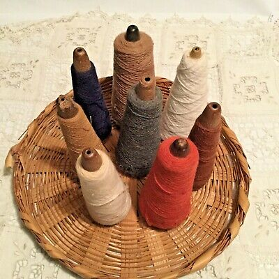 Vintage Cone Thread Spools ~ Assorted Colors Lot of 8