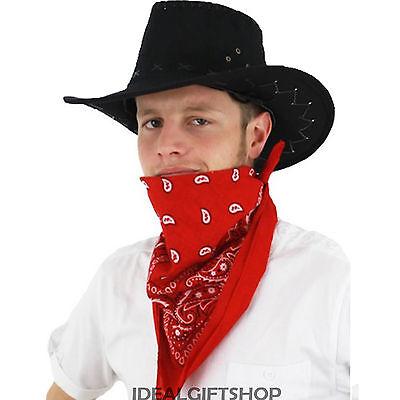 100/% COTTON ADULTS COWBOY BANDANA WESTERN FANCY DRESS WILD WEST SHERIFF MEXICAN