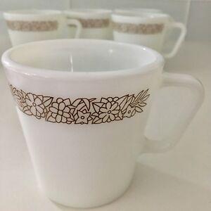 7 Woodland Brown Pyrex Mugs