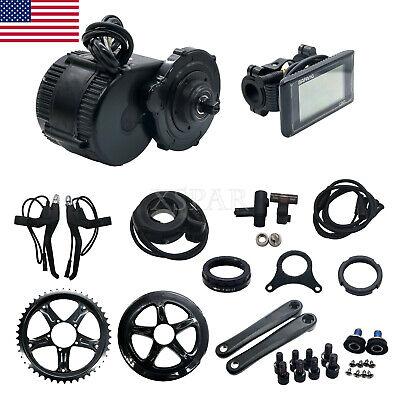 36V Bafang/8Fun Mid-Drive Motor E-Bike Conversion Kit +Controller &LCD Panel US*