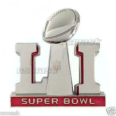 2017 Super Bowl 51 Li Logo Lapel Pin Jersey Hat Tom Brady Mvp Media Day Patriots
