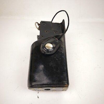 Oms Black Leather Swivel Radio Holster