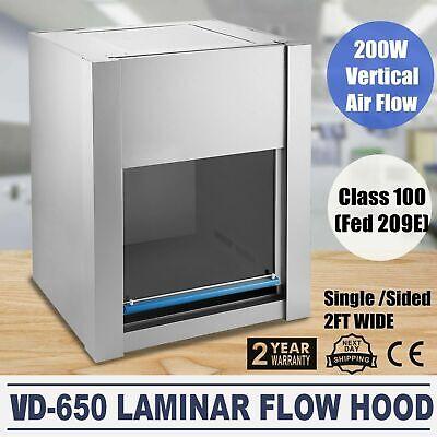 Us110v Pro Vd-650 Laminar Flow Hood Air Flow Clean Bench Workstation Class 100