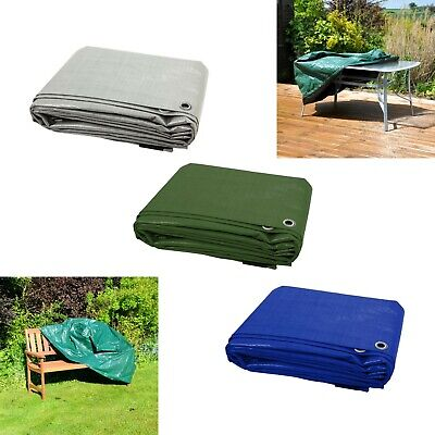 19 SIZES Tarpaulin Waterproof Furniture Caravan Cover Sheet Multipurpose