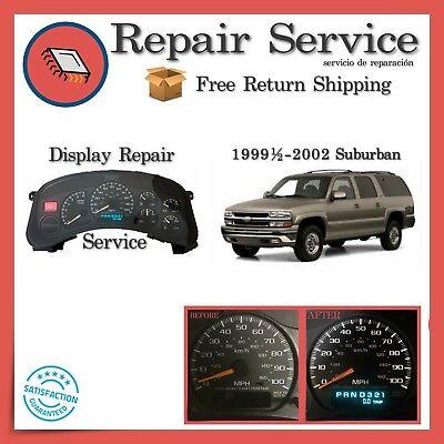 ✅CLUSTER SPEEDOMETER REPAIR   Chevrolet Suburban 1999 2000 2001 2002 99 00 01 02