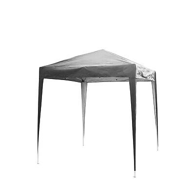 2x2M Pop up Gazebo Waterproof Marquee Canopy Garden Wedding Party Tent Grey