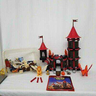Fisher Price Trio Building Blocks P6840 Wizard's Castle with Manual and Extras