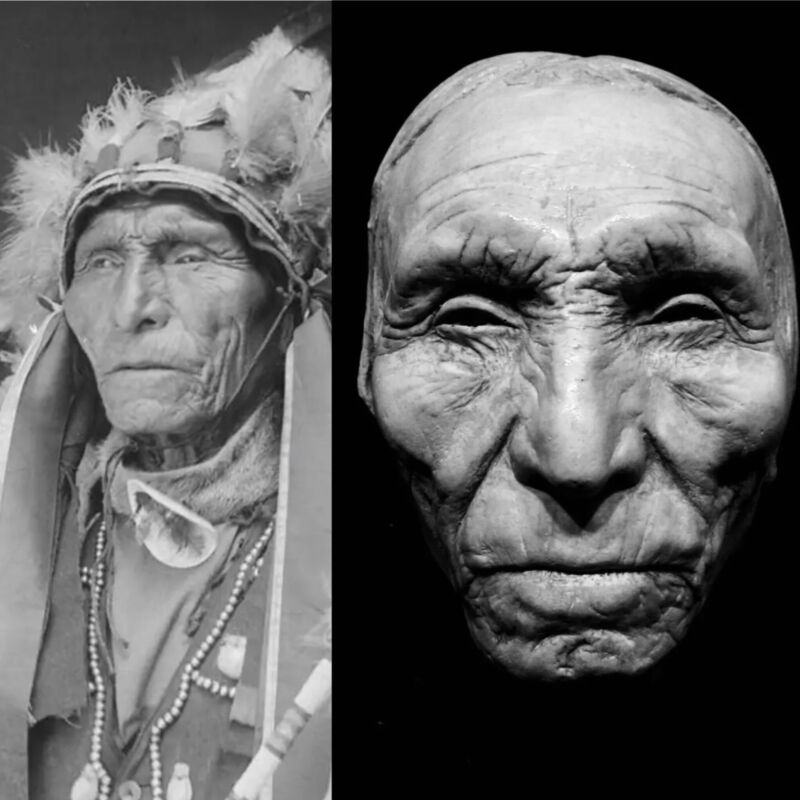 Standing Cloud Oglala Sioux Life Mask Cast Very Rare Native American Life Mask!!