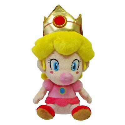Super Mario Baby Peach 5 Inch Plush NEW IN - Baby Peach Mario